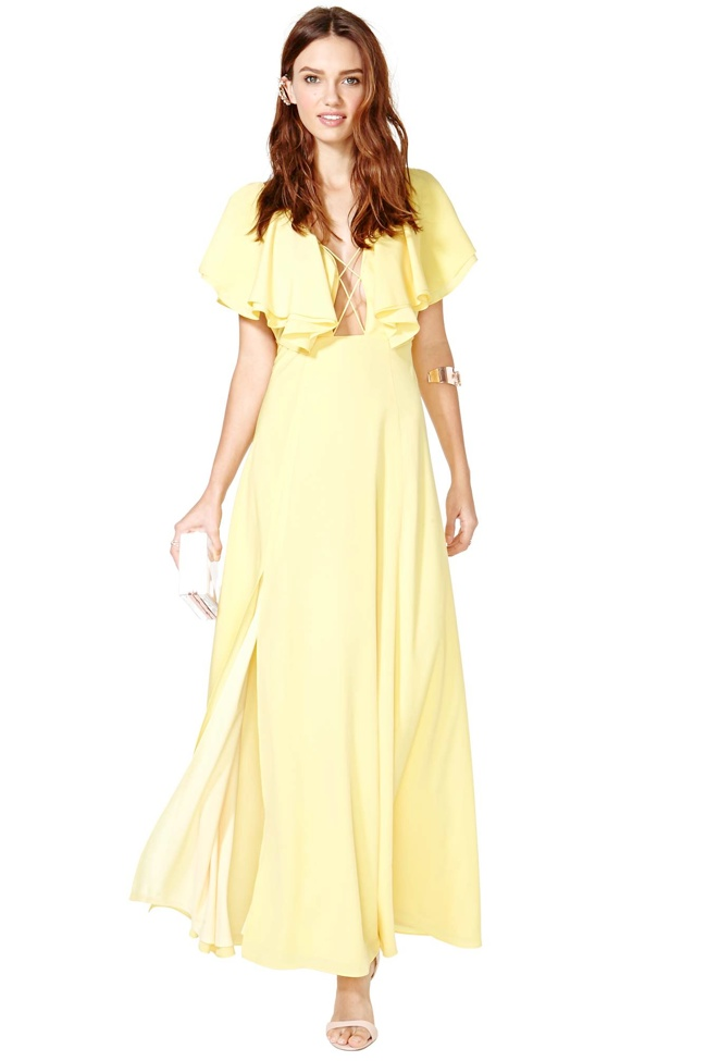 nasty gal dream yellow dress 6 Prom Dress Styles to Dance the Night Away In