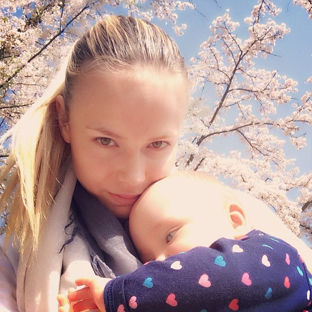 Natasha Poly and her daughter in adorable shot