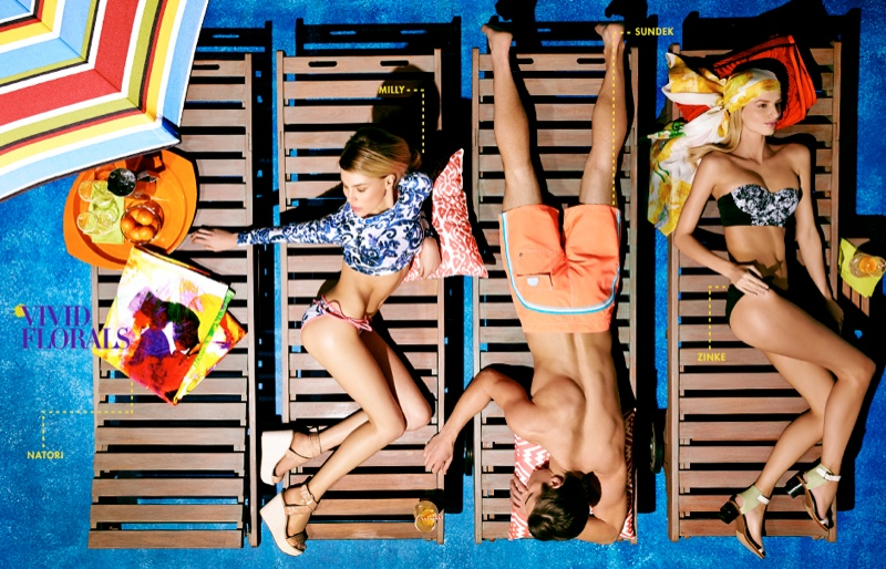 neiman marcus swimwear2 Britt Maren, Michaela Kocianova Model Swimwear in Neiman Marcus Shoot by Nick Prendergast