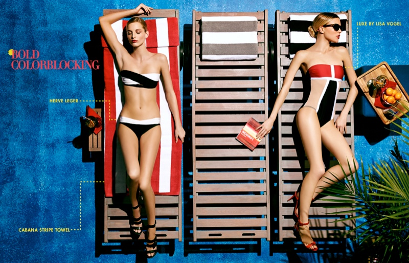 neiman marcus swimwear3 Britt Maren, Michaela Kocianova Model Swimwear in Neiman Marcus Shoot by Nick Prendergast