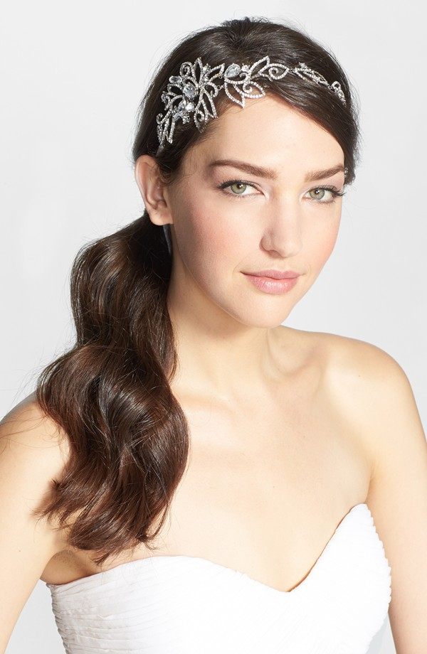 nina crystal head wrap 7 Amazing Bridal Veils & Hair Accessories for Wedding Glamour