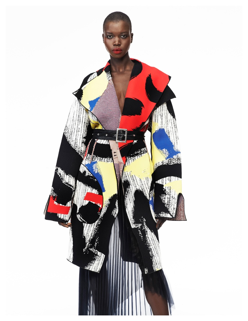 Nykhor Paul Models Celine for Elle Mexico's May Issue