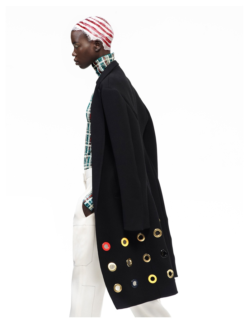 nykhor paul3 Nykhor Paul Models Celine for Elle Mexicos May Issue