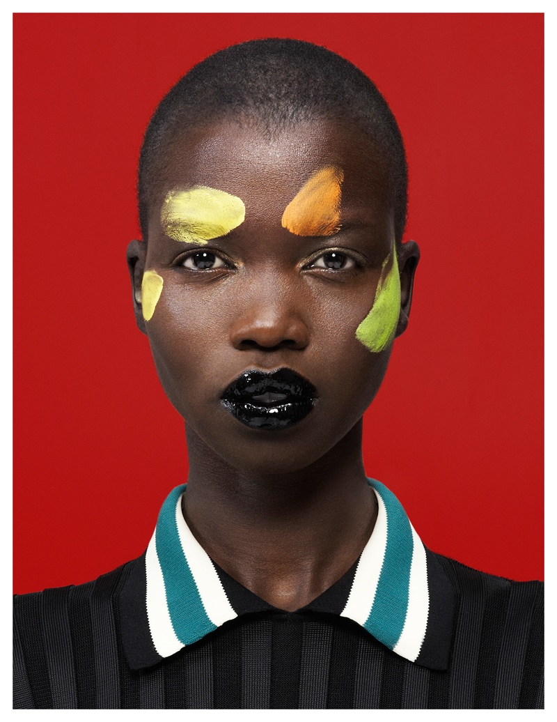 nykhor paul5 Nykhor Paul Models Celine for Elle Mexicos May Issue