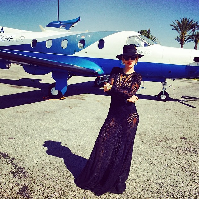 Image: Rita Ora wears Roberto Cavalli at Coachella weekend. Photo: singer's Instagram