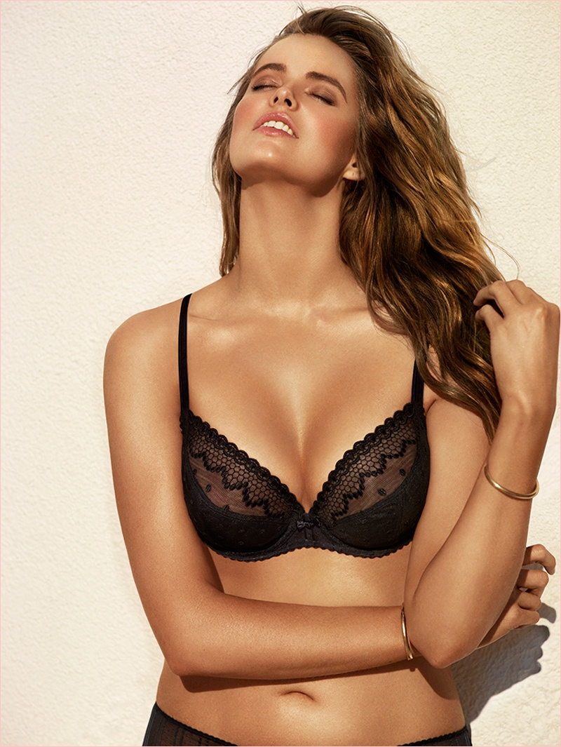 robyn lawley chantelle lingerie 3 New Photos of Robyn Lawley for Chantelle Lingerie Spring 14 Line