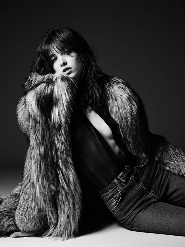 Grace Hartzel Rocks the Saint Laurent Pre-Fall 2014 Lookbook
