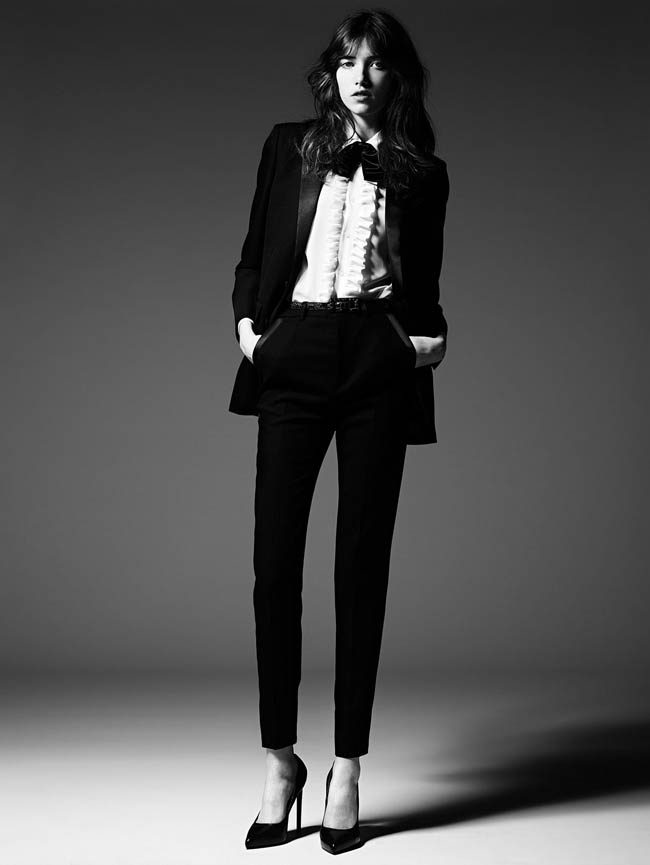 saint laurent pre fall 2014 7 Grace Hartzel Rocks the Saint Laurent Pre Fall 2014 Lookbook