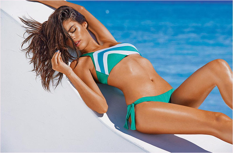 sara sampaio calzedonia swimsuit 2014 campaign13 Sara Sampaio Heats Up Calzedonias Summer 2014 Swimwear Campaign
