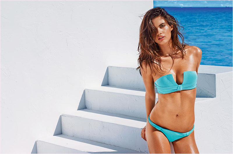 sara sampaio calzedonia swimsuit 2014 campaign15 Sara Sampaio Heats Up Calzedonias Summer 2014 Swimwear Campaign