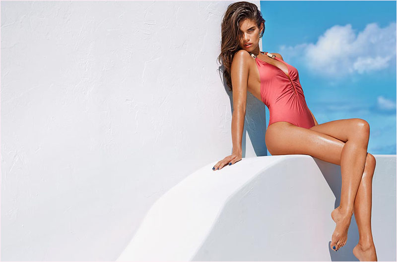 sara sampaio calzedonia swimsuit 2014 campaign17 Sara Sampaio Heats Up Calzedonias Summer 2014 Swimwear Campaign