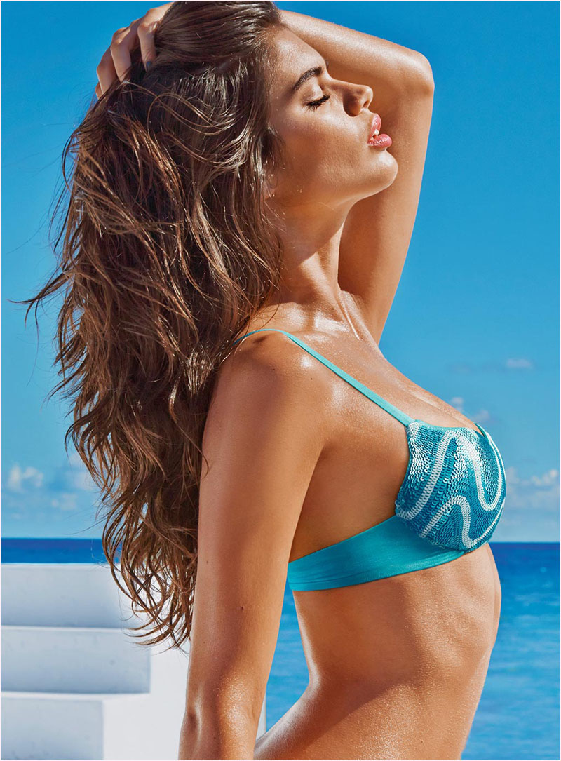 sara sampaio calzedonia swimsuit 2014 campaign2 Sara Sampaio Heats Up Calzedonias Summer 2014 Swimwear Campaign