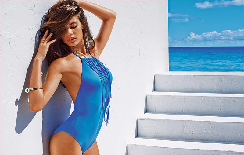 sara sampaio calzedonia swimsuit 2014 campaign3 Sara Sampaio Heats Up Calzedonias Summer 2014 Swimwear Campaign