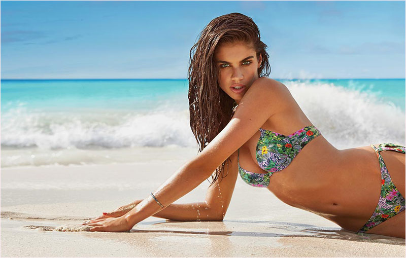 sara sampaio calzedonia swimsuit 2014 campaign5 Sara Sampaio Heats Up Calzedonias Summer 2014 Swimwear Campaign