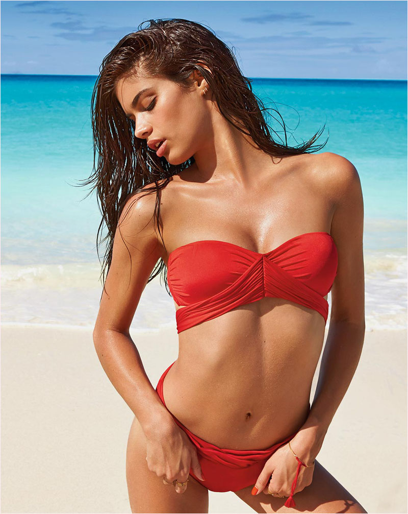 sara sampaio calzedonia swimsuit 2014 campaign6 Sara Sampaio Heats Up Calzedonias Summer 2014 Swimwear Campaign