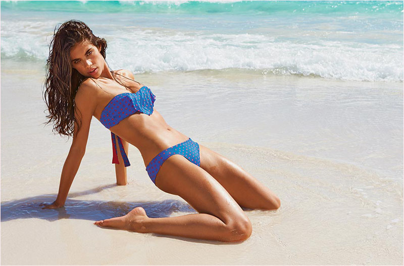 sara sampaio calzedonia swimsuit 2014 campaign9 Sara Sampaio Heats Up Calzedonias Summer 2014 Swimwear Campaign