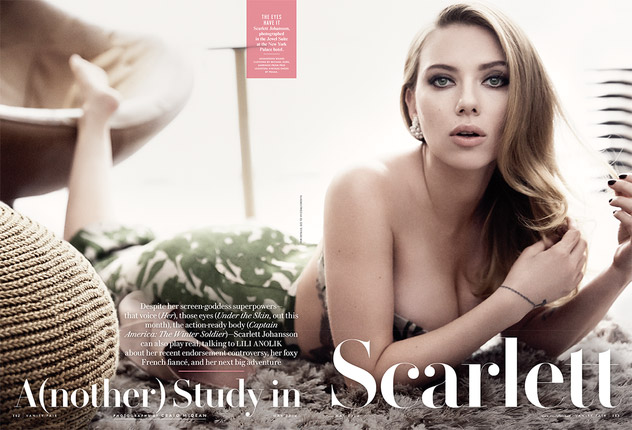 scarlett johansson vanity fair Scarlett Johansson Gets Sultry for Vanity Fair May 2014 Cover