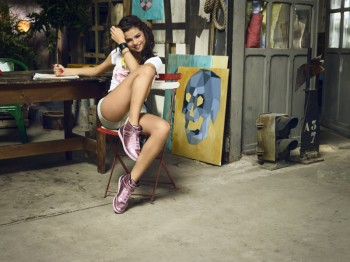 Selena Gomez Poses in Artist's Studio for Adidas NEO Spring '14 Collaboration