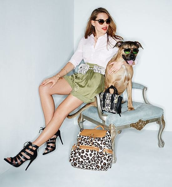 shopbop dogs spring accessories6 Trend: Models Posing with Animals in Fashion Shoots