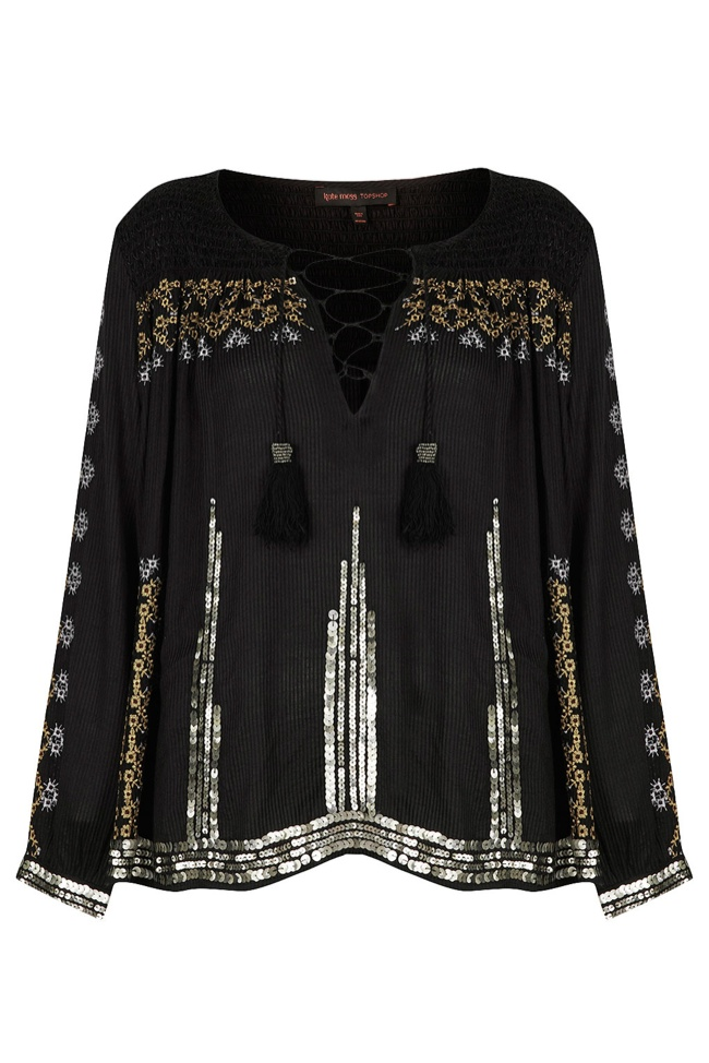 smock blouse kate moss topshop Its Here! The Kate Moss for Topshop Collection Has Arrived