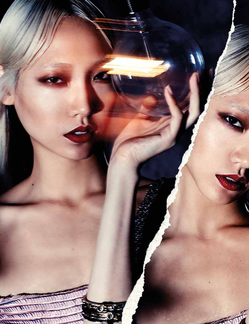 soo joo park photo shoot3 Soo Joo Park Makes Bold Moves for LOfficiel Singapore Shoot