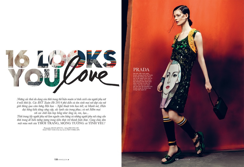 spring collections elle1 Looks to Love: Isabelle Nicolay in the Spring Collections for Elle Vietnam