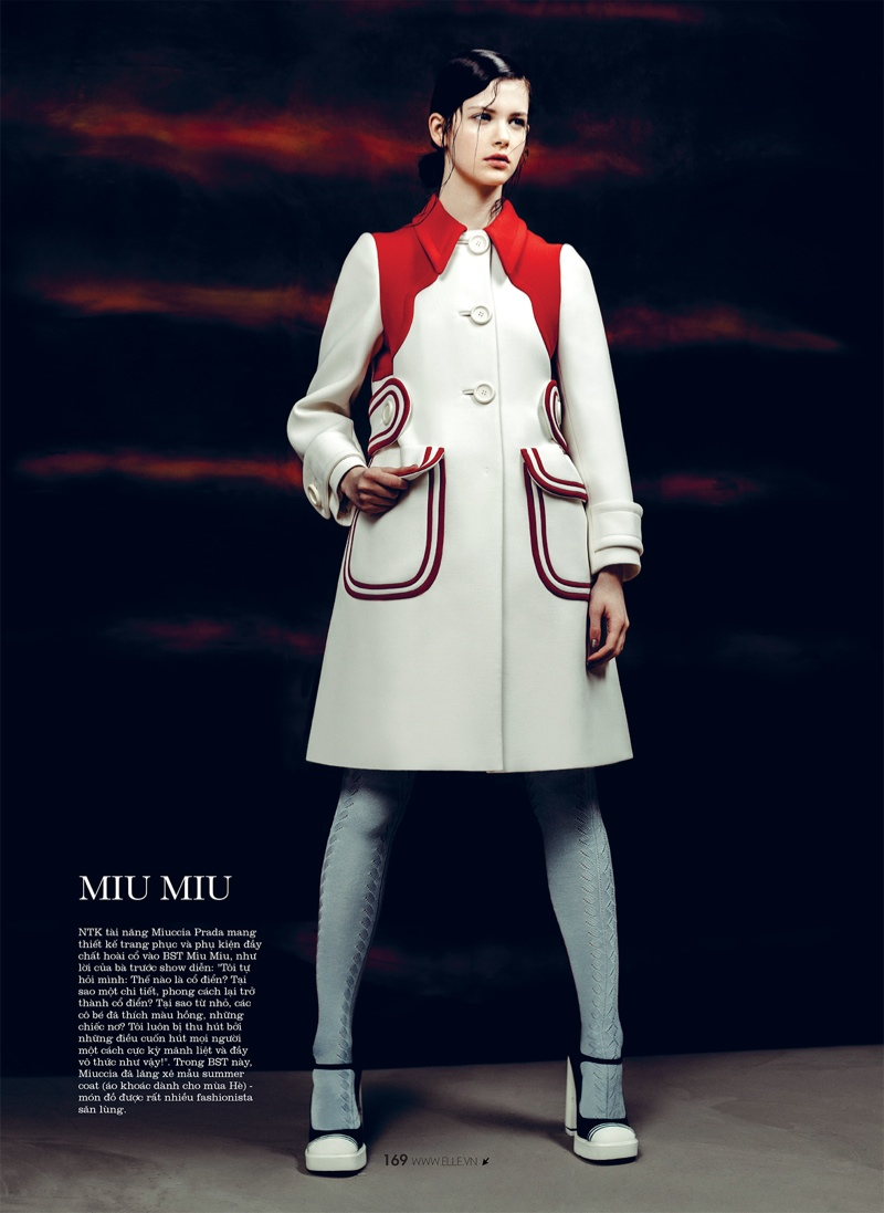 spring collections elle12 Looks to Love: Isabelle Nicolay in the Spring Collections for Elle Vietnam