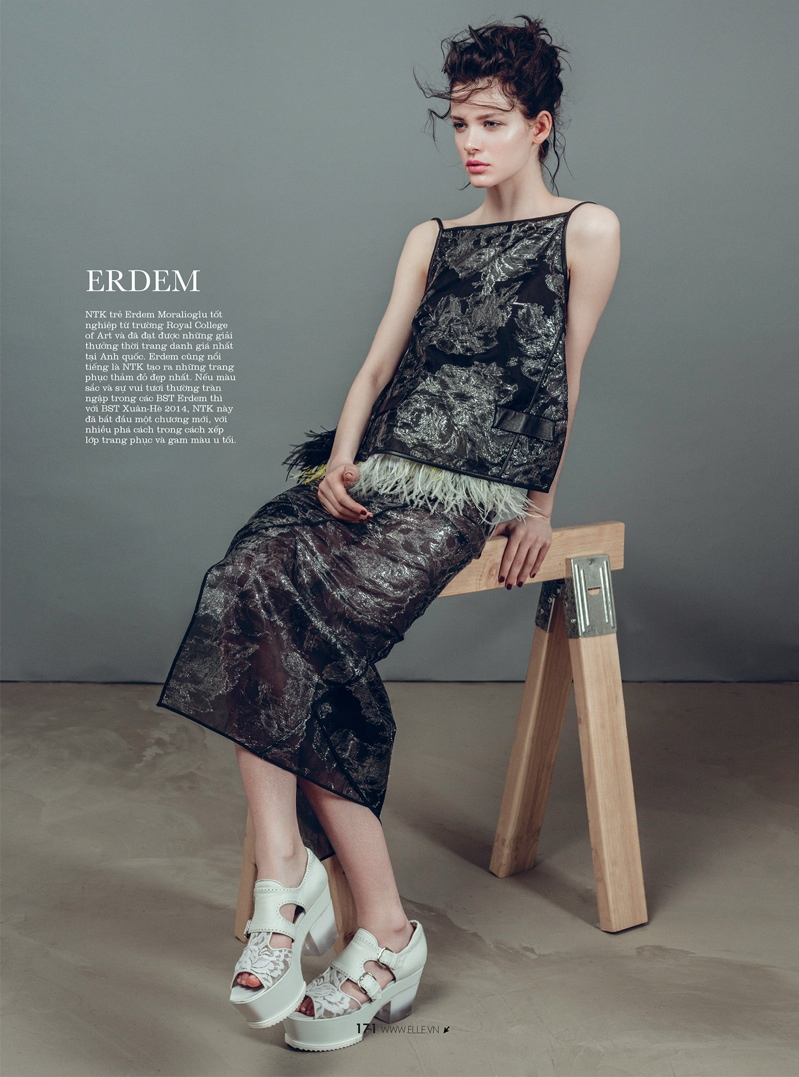 spring collections elle14 Looks to Love: Isabelle Nicolay in the Spring Collections for Elle Vietnam