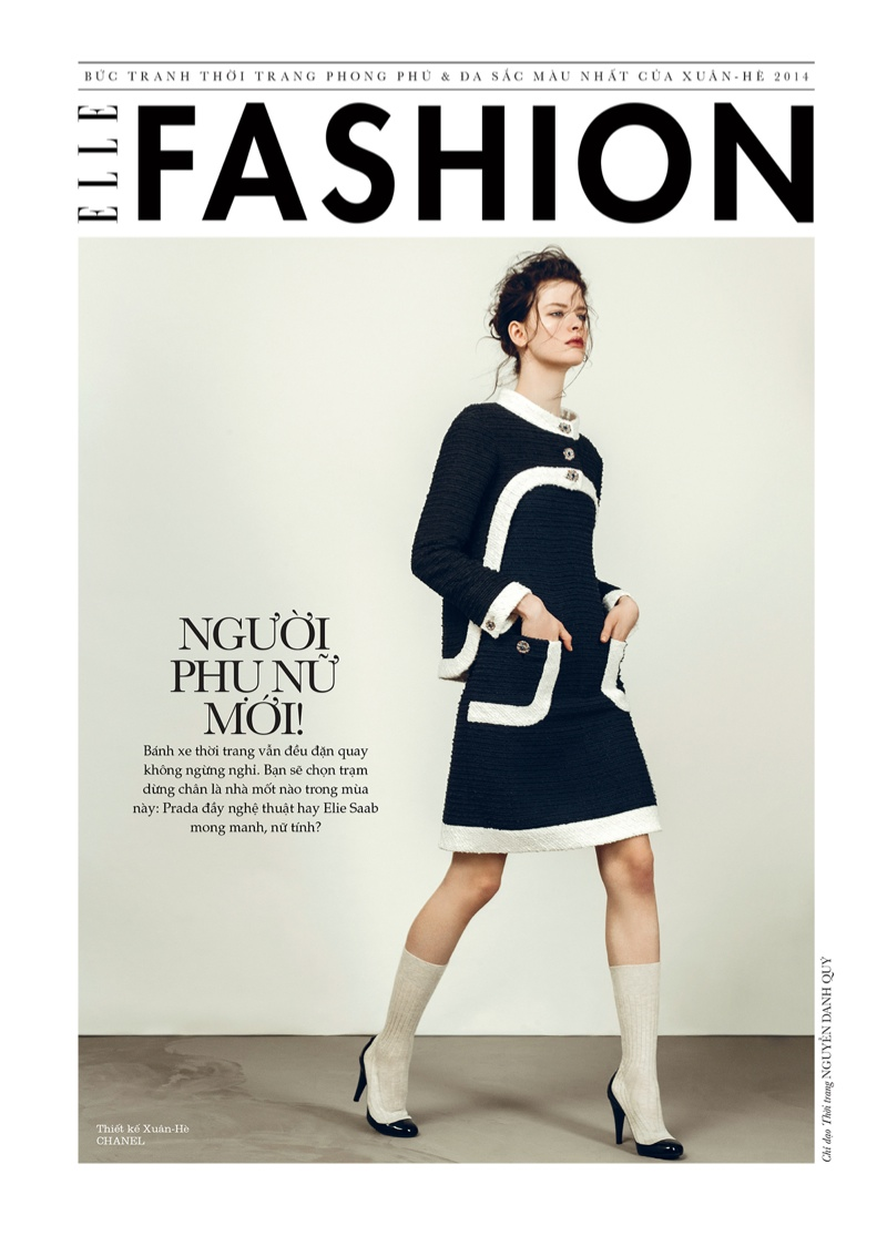 spring collections elle2 Looks to Love: Isabelle Nicolay in the Spring Collections for Elle Vietnam