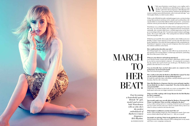 suki waterhouse photo shoot3 Suki Waterhouse Channels 60s Chic for LOfficiel Singapore Feature