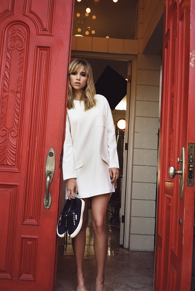 suki waterhouse superga spring 2014 campaign photos5 Suki Waterhouse Kicks Up Her Heels for Superga Spring 2014 Campaign