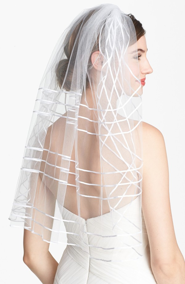 tasha ribbon veil 7 Amazing Bridal Veils & Hair Accessories for Wedding Glamour