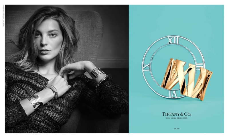 tiffany co atlas daria werbowy campaign1 Daria Werbowy Fronts Tiffany & Co. Atlas Jewelry Campaign