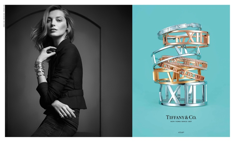 tiffany co atlas daria werbowy campaign2 Daria Werbowy Fronts Tiffany & Co. Atlas Jewelry Campaign