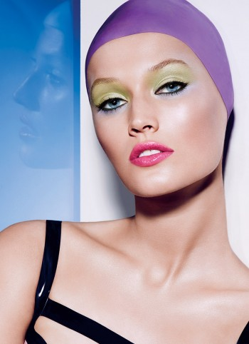 Toni Garrn for NARS Adult Swim Summer 2014 Collection. Courtesy of NARS