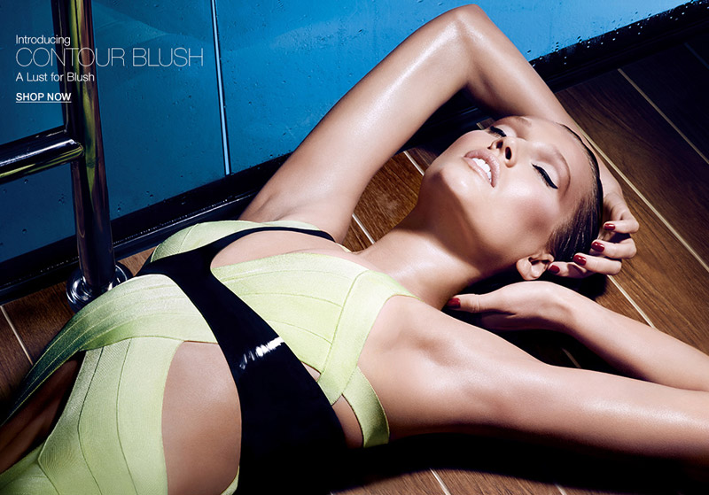 Toni Garrn for NARS Contour Blush Summer 2014 Collection. Courtesy of NARS