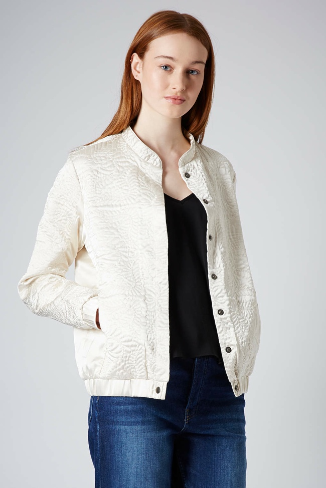 topshop embroidered bomber jacket 5 Spring Bomber Jackets to Wear Now