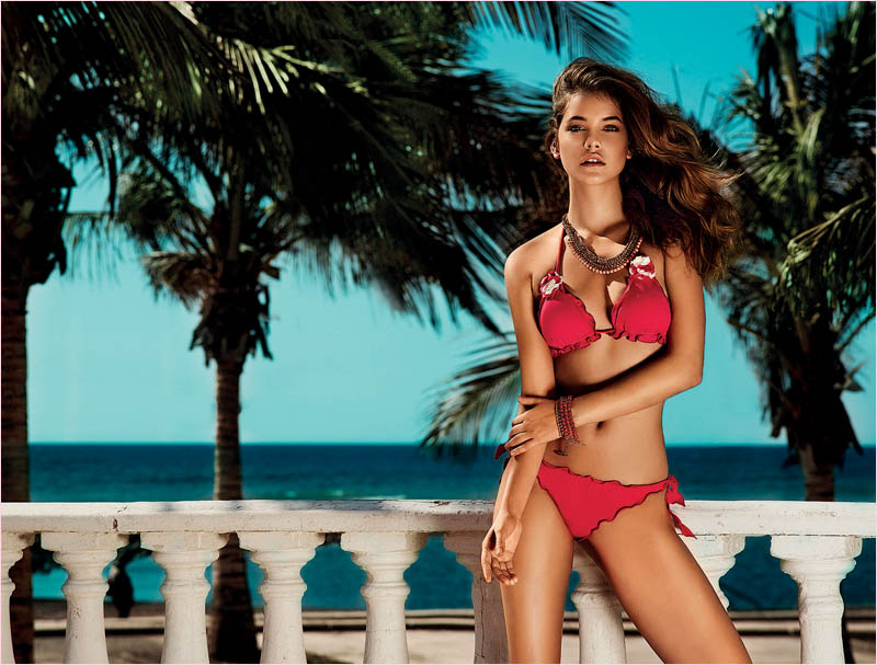 twin set spring 2014 beachwear barbara palvin1 Barbara Palvin in Bikinis for Twin Set Beachwear Spring 2014 Campaign