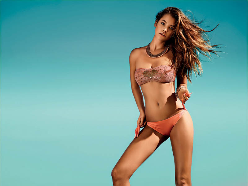 twin set spring 2014 beachwear barbara palvin11 Barbara Palvin in Bikinis for Twin Set Beachwear Spring 2014 Campaign