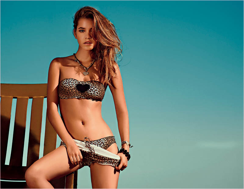 twin set spring 2014 beachwear barbara palvin12 Barbara Palvin in Bikinis for Twin Set Beachwear Spring 2014 Campaign
