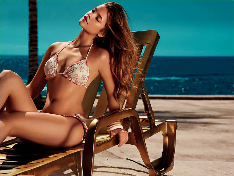 twin set spring 2014 beachwear barbara palvin4 Week in Review | Barbara Sizzles, Air France Style, Bregje in LA + More