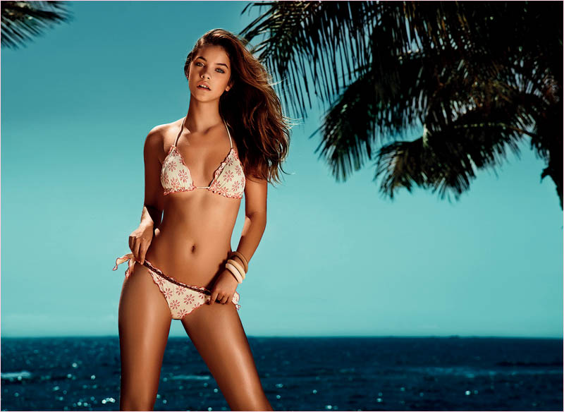 twin set spring 2014 beachwear barbara palvin5 Barbara Palvin in Bikinis for Twin Set Beachwear Spring 2014 Campaign