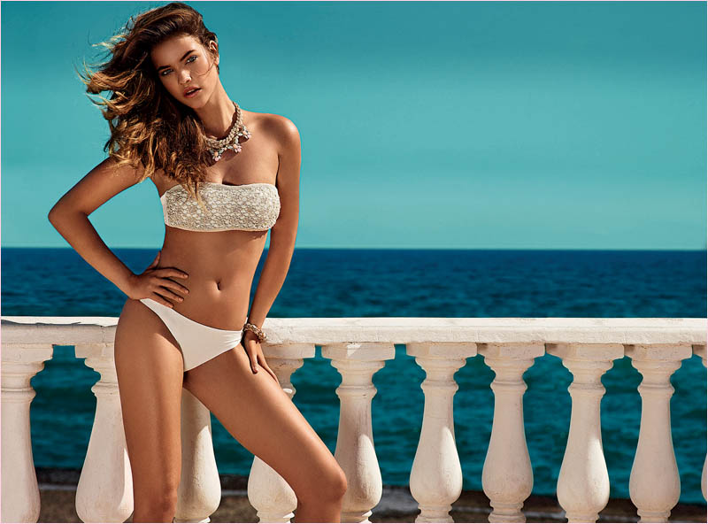 twin set spring 2014 beachwear barbara palvin6 Barbara Palvin in Bikinis for Twin Set Beachwear Spring 2014 Campaign