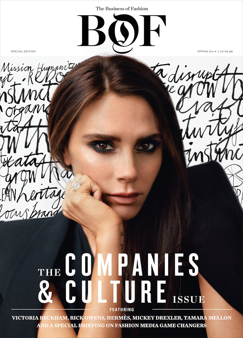 Image: Victoria Beckham on Business of Fashion Issue #2. Photo by Alasdair McLellan