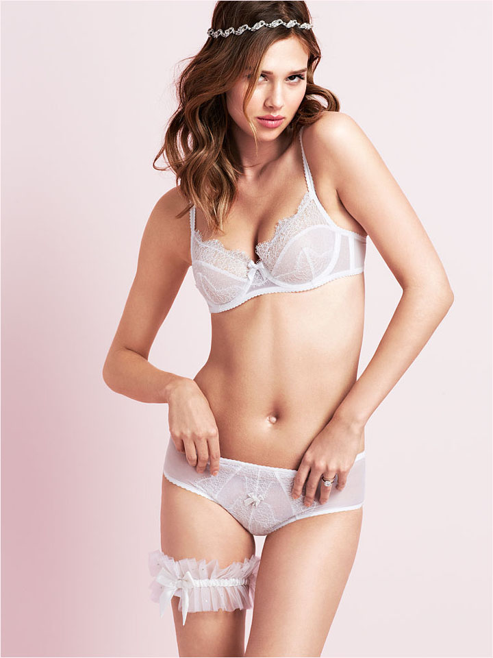 victorias secret bridal 2014 2 Bridal Babes! Lindsay Ellingson & Anais Pouliot Pose for Victorias Secret