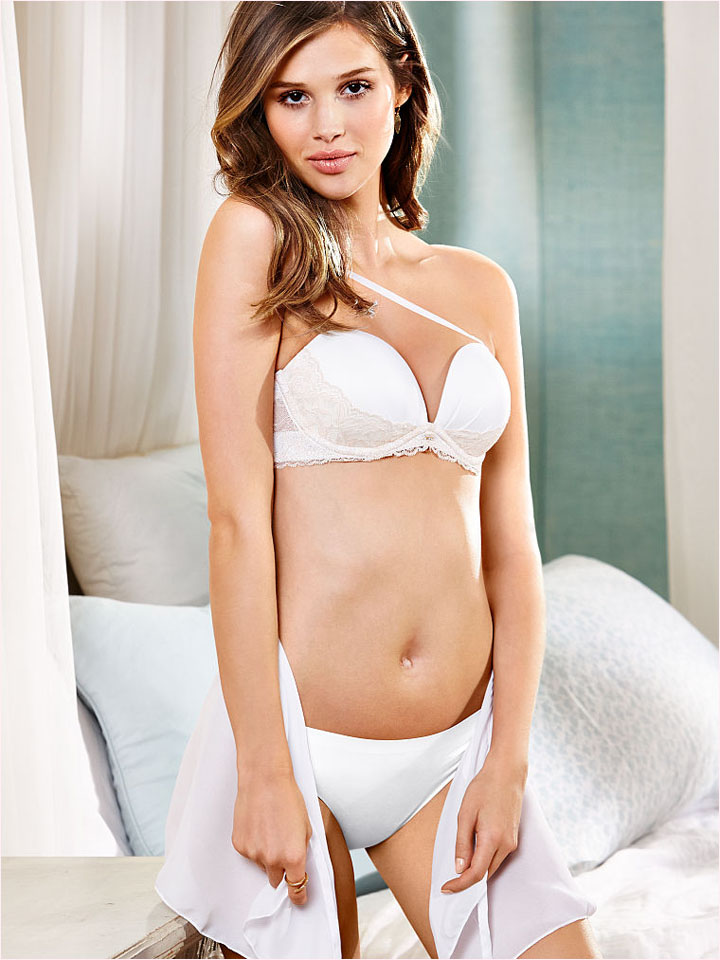 victorias secret bridal 2014 8 Bridal Babes! Lindsay Ellingson & Anais Pouliot Pose for Victorias Secret