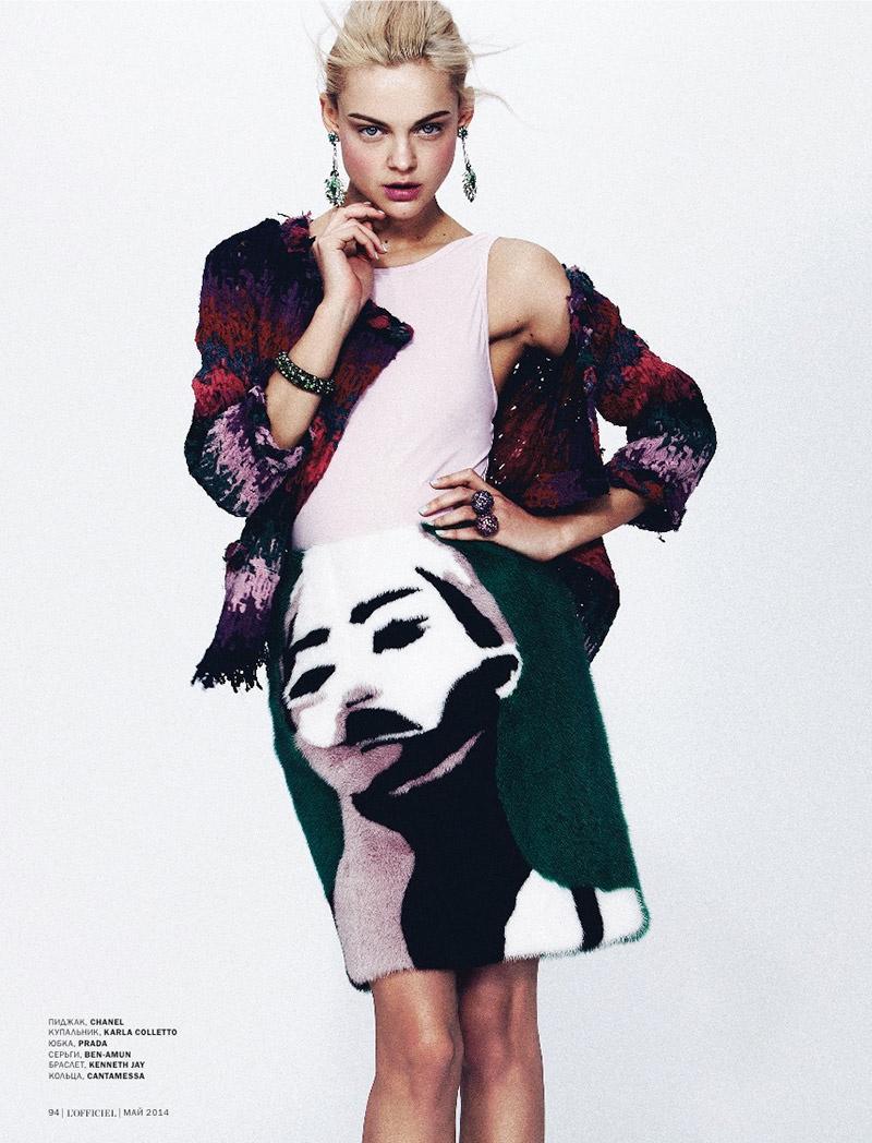 viktoriya sasokina photos 8 Daring Spring: Viktoriya Sasonkina Stars in LOfficiel Ukraine May Cover Story