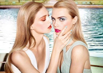 Cara Delevingne + Ondria Hardin Cozy Up for YSL Baby Doll Kiss & Blush Ad