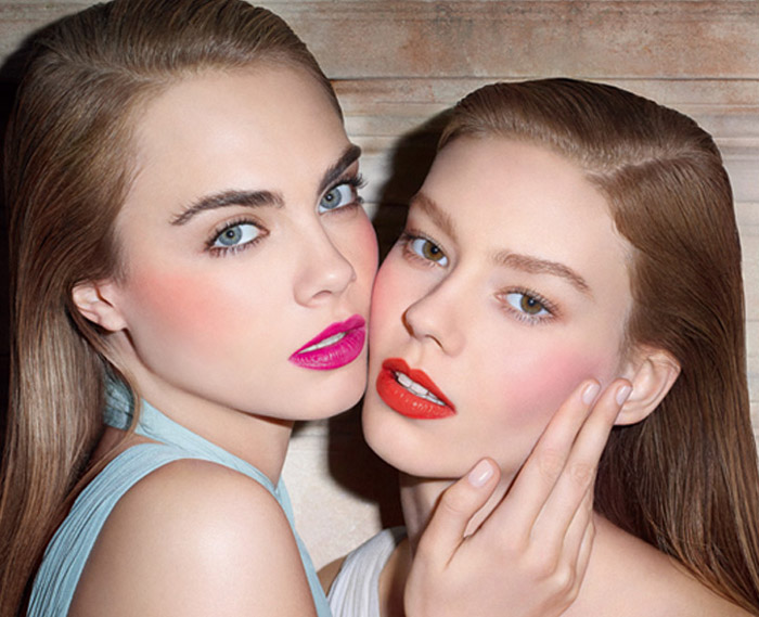 ysl baby doll kiss blush ondria cara Cara Delevingne + Ondria Hardin Cozy Up for YSL Baby Doll Kiss & Blush Ad