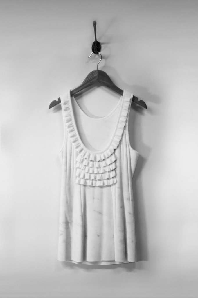 Lucy dress marble sculpture alasdair thomson Sculptor Makes Dresses Out of Marble—See the Looks!